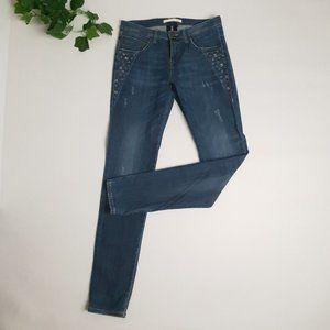MAC Woman's Jeans Skinny Embellished Distress Look